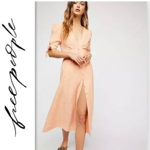 NewFREE PEOPLE Love of My Life Pink Peach dress S